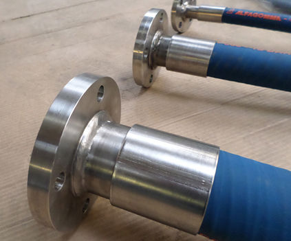 chemical dosing hose assemblies PTFE UHMWPE hastelloy tail flanged fittings c276 hastelloy acid