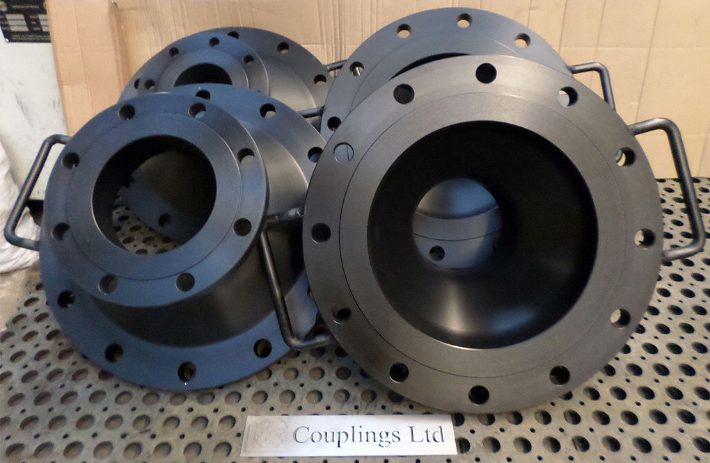 Flange adaptor spool peice milled from solid aluminium for fuel and oil
